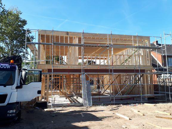 Houtskeletbouw in opbouw Rijkevorsel