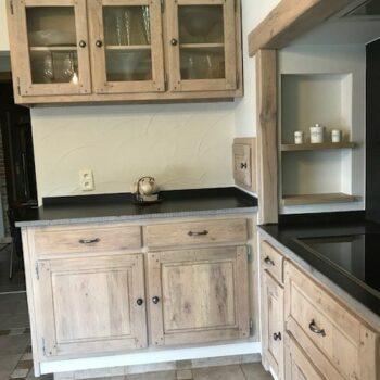 Keuken NA zandstralen